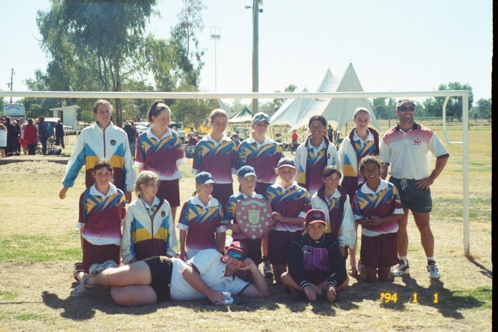 Kate Jacewicz (middle row, far left) and Aivi Luik (middle row, with shield) - Supplied